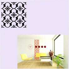 SQUARE BAROQUE PATTERN MOROCCAN Sizes Reusable Stencil Shabby Chic Romantic Style 'B14'