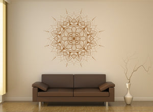 MANDALA STAR MEDALLION SUN RAYS Big & Small Sizes Colour Wall Sticker Oriental Modern 'Mandala5'