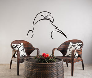 EAGLE ARTISTIC SKETCH Big & Small Sizes Colour Wall Sticker Kids Room Animal Modern Style 'Kids59'