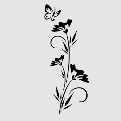 CORNFLOWERS FLOWERS & BUTTERFLY Sizes Reusable Stencil Shabby Chic 'J44'