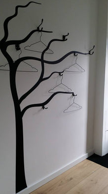 HANGER TREE  Big & Small Sizes Colour Wall Sticker Tree Floral Modern Style 'J39'