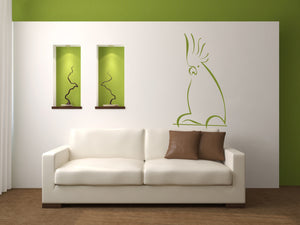 PARROT ARTISTIC SKETCH Big & Small Sizes Colour Wall Sticker Animal Kids Room Modern Style 'Kids147'