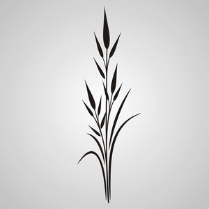 STALK OF THIN GRASS Big & Small Sizes Colour Wall Sticker Shabby Chic Romantic Oriental Style 'J41'