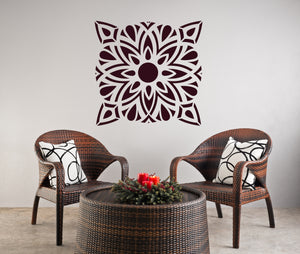 MANDALA ORIENTAL  Big & Small Sizes Colour Wall Sticker Oriental Modern / M24