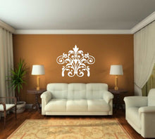 BAROQUE ORNAMENT Big & Small Sizes Colour Wall Sticker Shabby Chic Romantic Style 'B5'