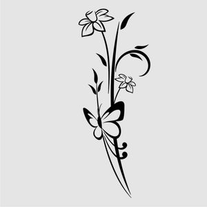 SPRING DAFFODILS BUNCH & BUTTERFLY Sizes Reusable Stencil Shabby Chic 'J46'