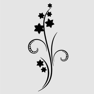 MAGIC STAR SKETCH FLOWER TWIG Sizes Reusable Stencil Shabby Chic Romantic Style 'J52'