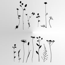 WILD HERBS AND FLOWERS Big & Small Sizes Colour Wall Sticker Floral Shabby Chic Style 'Wild4'