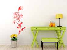 SPRING DAFFODILS BOUQUET & BUTTERFLY Big & Small Sizes Colour Wall Sticker Shabby Chic 'J21'