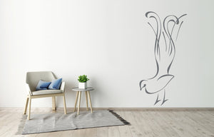 PEACOCK ARTISTIC SKETCH Sizes Reusable Stencil Animal Kids Room Modern Style 'Kids64'