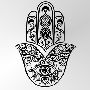 ORIENTAL HENNA FATIMA'S HAND Big & Small Sizes Colour Wall Sticker Shabby Chic 'Fatimas Hand'