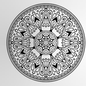 MANDALA ROUND MEDALLION Sizes Reusable Stencil Modern Exotic Oriental Travel 'Mandala2'