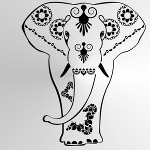 ORIENTAL MANDALA ELEPHANT Sizes Reusable Stencil Orient Travel  Style 'Elephant'