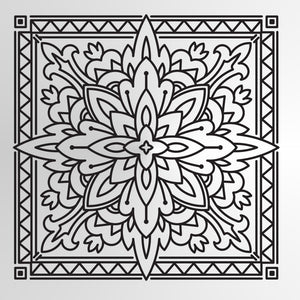Mandala Moroccan Tile Square Big & Small Sizes Colour Wall Sticker Oriental Modern Travel / M11