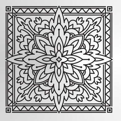 Mandala Moroccan Tile Square Round SIZES Reusable Stencil Wall Decor Oriental / M11