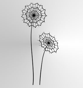 SPIDER WEB FLOWERS DANDELIONS Sizes Reusable Stencil Shabby Chic 'Flora21'