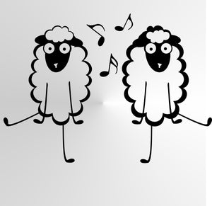 FUNNY DANCING SHEEPS KIDS ROOM Sizes Reusable Stencil Animal Happy Style 'Kids60'