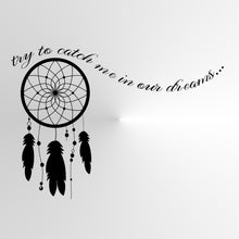 CATCHER DREAMS QUOTE Big & Small Sizes Colour Wall Sticker Modern Style 'Q16'