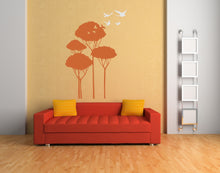 FLYING BIRDS IN TREES Big & Small Sizes Colour Wall Sticker Shabby Chic Romantic Style 'Bird105'