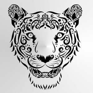 TIGER WILD MOHENDI Sizes Reusable Stencil Exotic Oriental Travel / Animal4