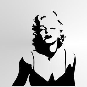 Marilyn Monroe Reusable Stencil Big Sizes Wall Decor Modern Style / Monroe