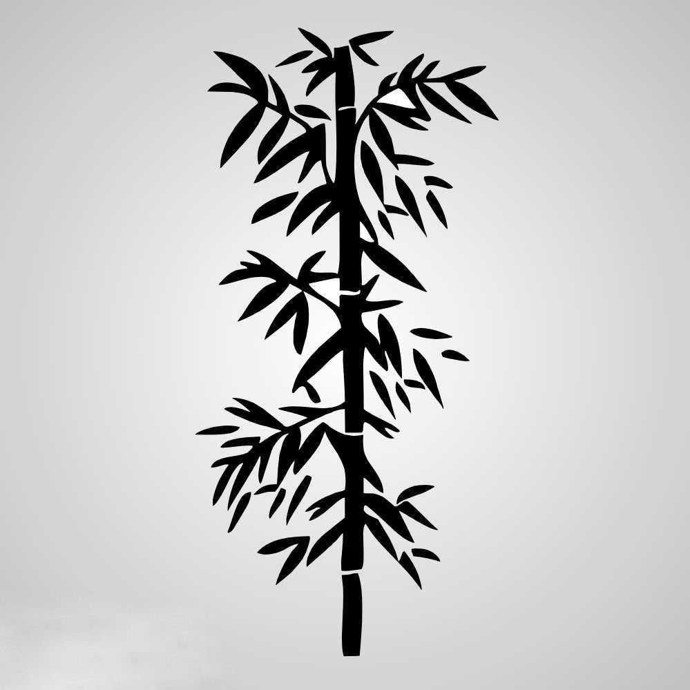 BAMBOO PLANT Big & Small Sizes Colour Wall Sticker Floral Oriental Exotic Style 'Bamboo5'