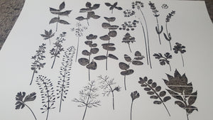 WILD HERBS AND FLOWERS Sizes Reusable Stencil Shabby Chic Romantic Style 'Wild1'