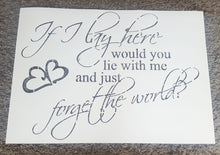 ROMANTIC QUOTE FOR BEDROOM Valentine's Sizes Reusable Stencil Modern Style 'Q1'