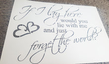 ROMANTIC QUOTE FOR BEDROOM Sizes Reusable Stencil Modern Style 'Q1'