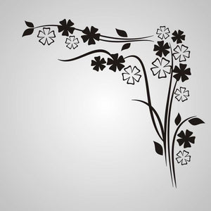 EDGY FLOWERS CORNER ORNAMENT Sizes Reusable Stencil Shabby Chic Romantic Style 'J19'