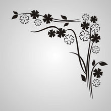 EDGY FLOWERS CORNER ORNAMENT Big & Small Sizes Colour Wall Sticker Shabby Chic Romantic Style 'J19'