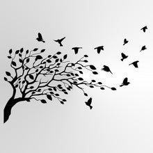 TREE FLYING AWAY BIRDS Big & Small Sizes Colour Wall Sticker Shabby Chic Romantic Style 'Tree29'