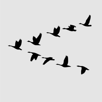 V FORMATION FLYING BIRDS Sizes Reusable Stencil Shabby Chic Romantic Style 'Bird117'