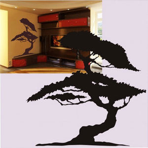 BONSAI TREE Big & Small Sizes Colour Wall Sticker Modern Floral Shabby Chic Style 'Tree4'