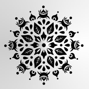 Mandala Leaves Floral Round SIZES Reusable Stencil Wall Art Decor Oriental / M30