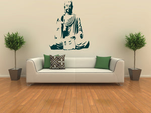 SITTING BUDDHA Big & Small Sizes Colour Wall Sticker Exotic Oriental Romantic Style 'N90'