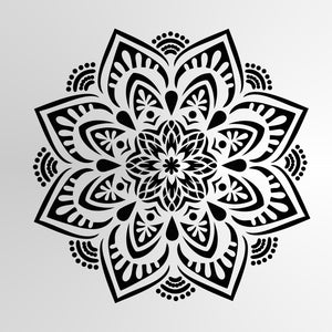 Mandala Flora Round SIZES Reusable Stencil Wall Art Decor Oriental / M31