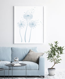 DANDELION FLOWERS Big & Small Sizes Colour Wall Sticker Shabby Chic Romantic 'F49'
