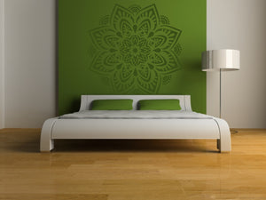 Mandala Flora Round Big & Small Sizes Colour Wall Sticker Oriental Shabby Chic Romantic / M31