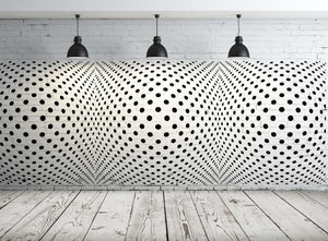 MODERN DOTS OPTICAL ILLUSION  Big & Small Sizes Colour Wall Sticker Orient Ornamental Style 'Deco1'