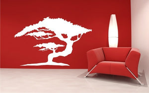 BONSAI TREE Big & Small Sizes Colour Wall Sticker Modern Floral Shabby Chic Style 'Tree5'