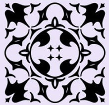 SQUARE BAROQUE PATTERN Big & Small Sizes Colour Wall Sticker Orient Ornamental Style 'B16'