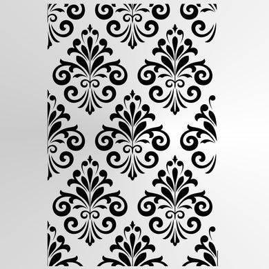 BAROQUE ORNAMENT Sizes Reusable Stencil Shabby Chic Romantic Style 'B6'