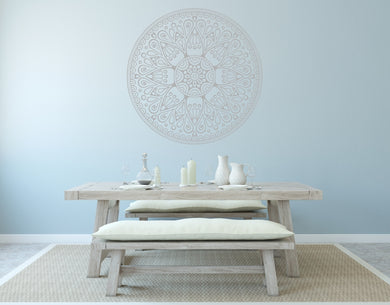 MANDALA ROUND MEDALLION Big & Small Sizes Colour Wall Sticker Oriental Modern 'Mandala2'