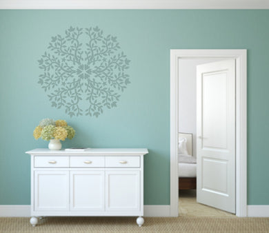 MANDALA FLOWER STAR ROUND Big & Small Sizes Colour Wall Sticker Oriental Shabby Chic Romantic / M26