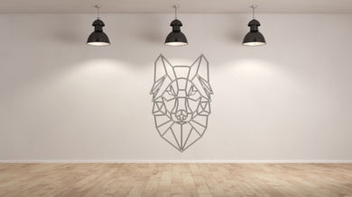 GEOMETRIC WOLF Big & Small Sizes Colour Wall Sticker Animal Modern Contemporary Style 'GEO2'