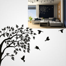 BRUNCH AND FLYING BIRDS Big & Small Sizes Colour Wall Sticker Shabby Chic Romantic Style 'Tree53'