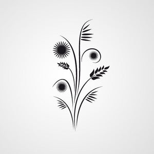 FLORAL TWIG & EAR OF GRAIN Big & Small Sizes Colour Wall Sticker Shabby Chic Romantic Style 'J3'
