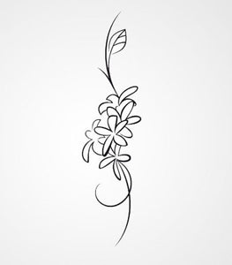 BUNCH OF FLOWER SKETCH Sizes Reusable Stencil Floral Shabby Chic 'J14'