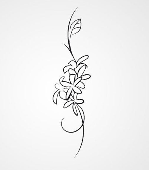 BUNCH OF FLOWER SKETCH Big & Small Sizes Colour Wall Sticker Flower Shabby Chic 'J14'